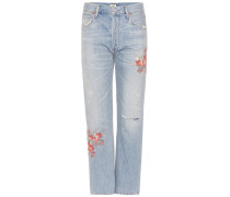 High-Rise Cropped Jeans Cora