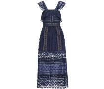 Besticktes Kleid Bluebell mit Spitze
