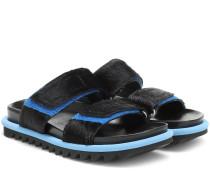 Sandalen aus Kalbshaar