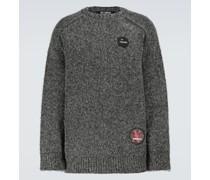 Oversize-Pullover mit Baumwollanteil