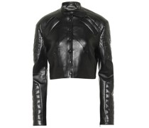 Cropped-Jacke aus Lederimitat