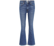 Mid-Rise Jeans Kick Flare aus Baumwolle