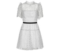 Minikleid aus Point d'Esprit-Tüll