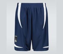 Bestickte Shorts aus Tech-Material
