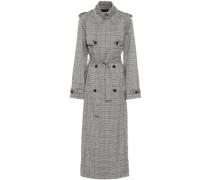 Karierter Trenchcoat Lorna aus Wolle