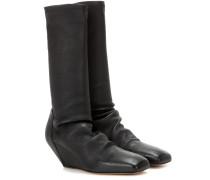Wedge-Stiefel aus Leder