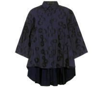 Bestickte Oversize-Bluse aus Baumwolle