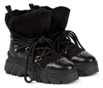 Stiefel aus Leder und Veloursleder