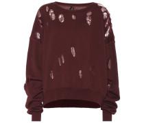 Distressed Sweatshirt aus Baumwolle