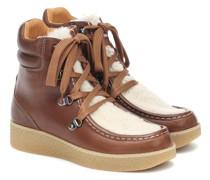 Ankle Boots Alpica aus Leder