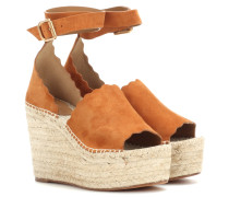 Wedge-Sandalen Lauren aus Veloursleder