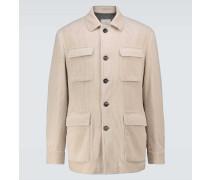 Wattierte Jacke aus Cord