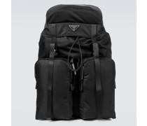 Rucksack aus Leder und Nylon