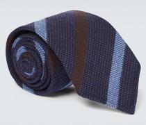Gestreifte Krawatte aus Wolle und Seide