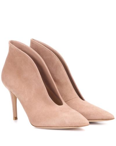 Gianvito Rossi Damen Ankle Boots Vania 85 aus Veloursleder Online-Shop Große Auswahl An Günstigen Online 5Uqcp