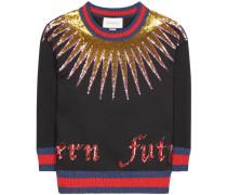 Verziertes Sweatshirt aus Baumwolle