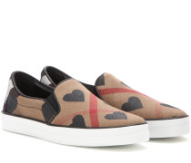 Karierte Slip-on-Sneakers Gauden