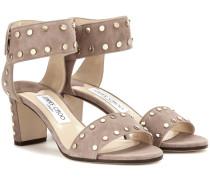 Verzierte Sandaletten Veto 65 aus Veloursleder