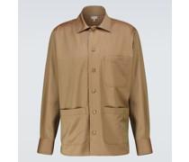 Hemdjacke aus Wolle
