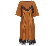 Seidenkleid mit Spitze und Baumwolle