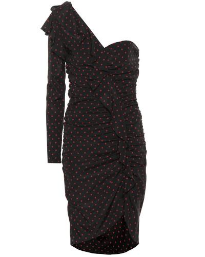Gepunktetes Kleid Leona aus Seide