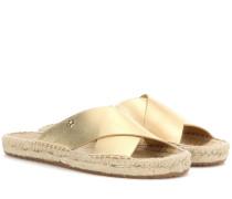Espadrilles-Sandalen Bima aus Metallic-Leder