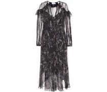 Langes Kleid aus Chiffon mit Print