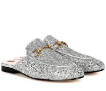 Slippers Princetown mit Glitter