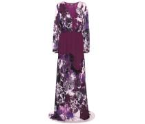 Bodenlanges Kleid mit floralem Print