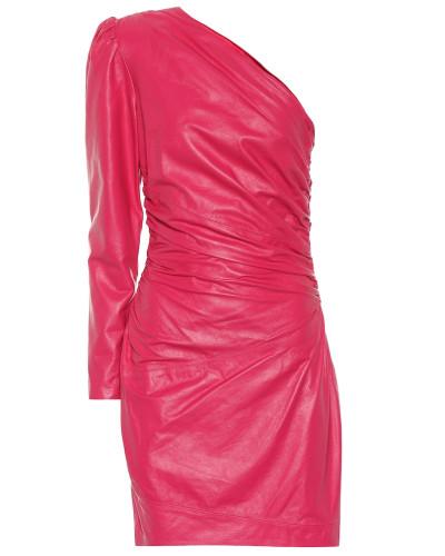 One-Shoulder-Kleid aus Leder