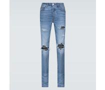 Distressed Slim-Fit Jeans MX1