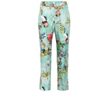 Bedruckte Pyjamahose aus Seide