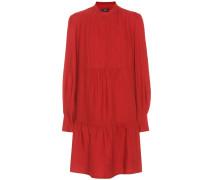 Kleid mit Woll- und Seidenanteil