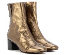Ankle Boots Lexie aus Metallic-Leder