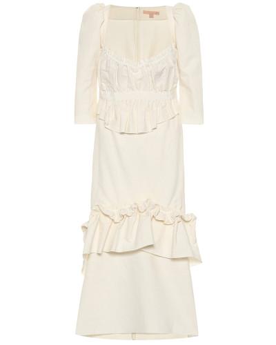 Kleid Okiku mit Leinenateil