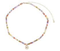 Halskette Evil Eye aus 14kt Gelbgold mit Diamanten