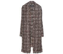 Bouclé-Mantel aus einem Woll-Mohair-Baumwollgemisch mit Schaldetail