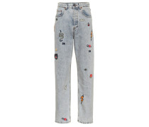 Verzierte High-Rise Jeans
