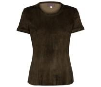 S.05 T-Shirt aus Veloursleder