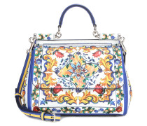 Ledertasche Miss Sicily Medium mit Print