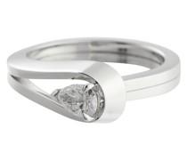 Ring Serti Inversé aus 18kt Weißgold mit Diamant