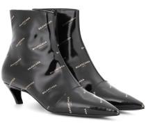 Bedruckte Ankle Boots aus Leder