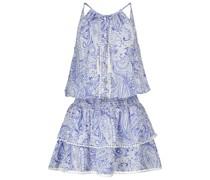 Minikleid Rosa mit Paisley-Muster