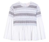 Bestickte Bluse aus Baumwolle