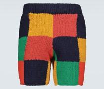 Gestrickte Shorts Square aus Baumwolle