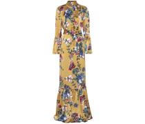 Bedrucktes Kleid Stephanie aus Seide