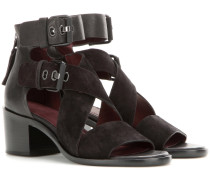 Sandalen Madrid aus Leder und Veloursleder