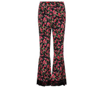 Flared-Hose mit Blumenprint