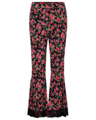Flared-Hose mit Blumenprint