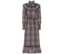 Kariertes Kleid Charron mit Rüschen